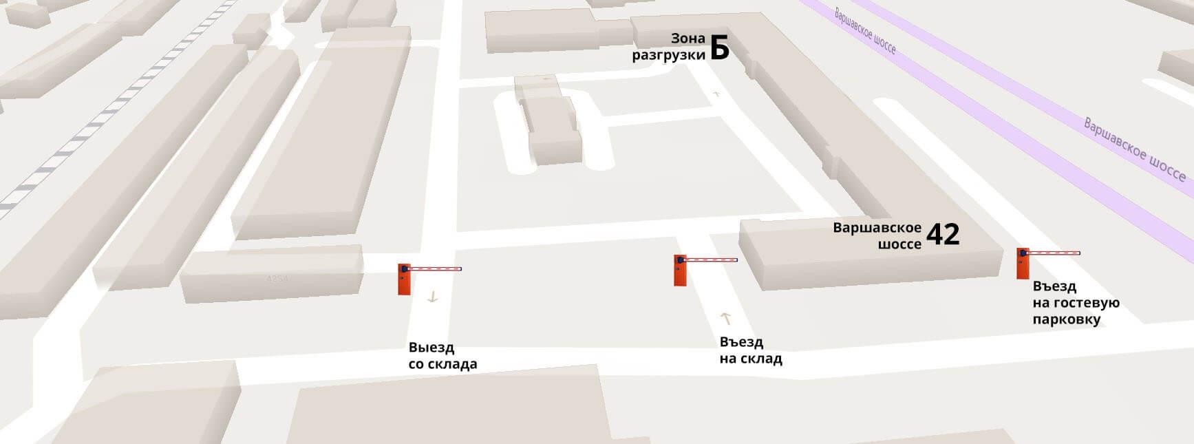Схема проезда в офис и на склад RIWA